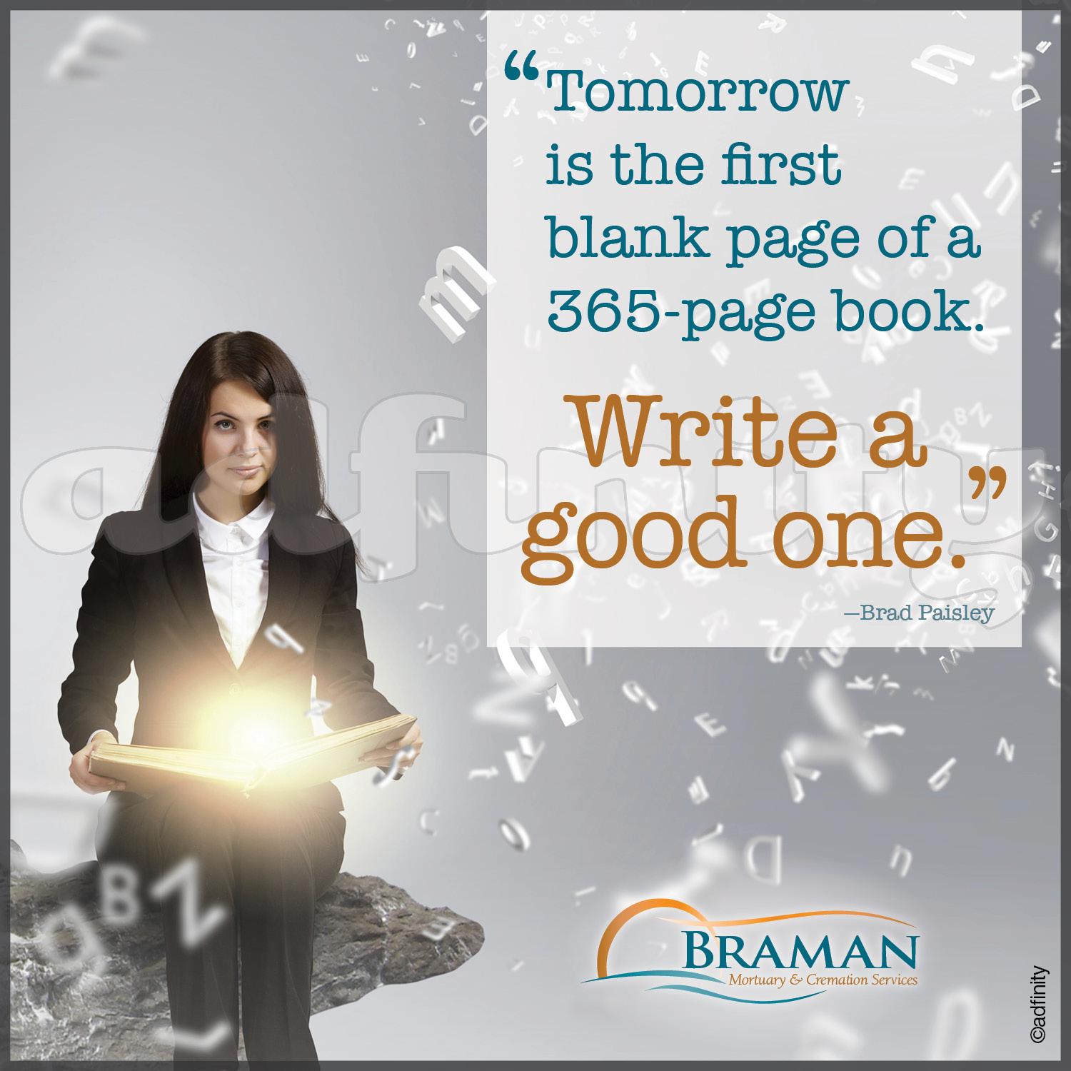 Today is the first blank page of a 365 page book. Write a good one.