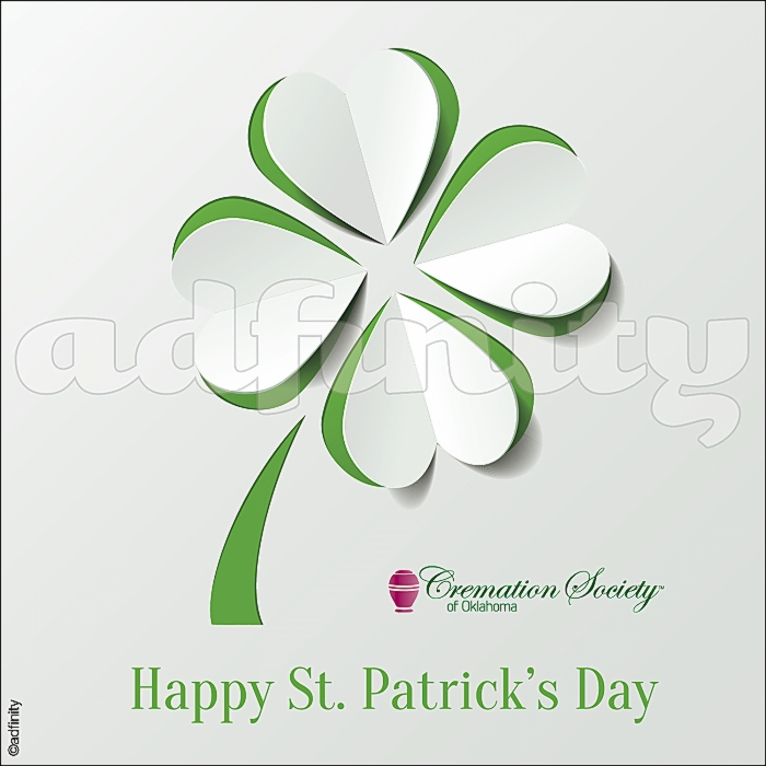 021508 Happy St. Patricks Day paper clover St. Patricks Day Facebook meme.jpg