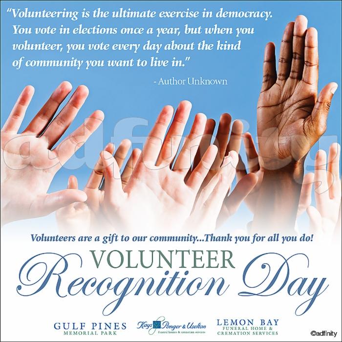 031528 Volunteering is the ultimate exercise in democracy. Volunteer Recognition Day Facebook meme.jpg