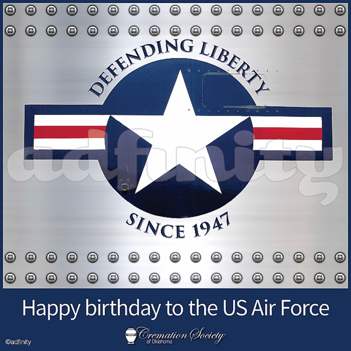091502Happy birthday to the US Air Force! Defending Liberty Since 1947 Air Force Birthday Facebook meme.jpg