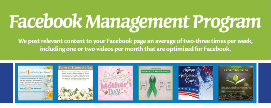 Facebook Management Program. Learn More