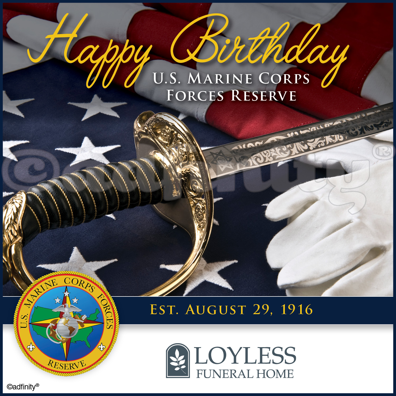Happy Birthday U S Marine Corps Reserve Facebook Adfinity